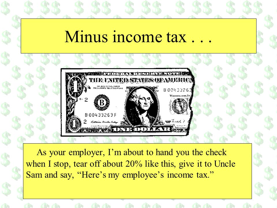 Minus income tax . . .