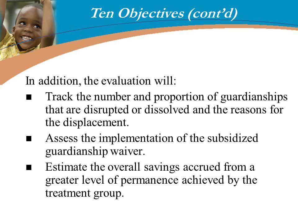 Ten Objectives (cont'd)