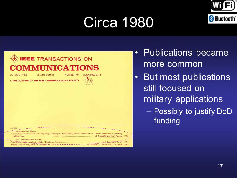 Circa 1980 Publications became more common