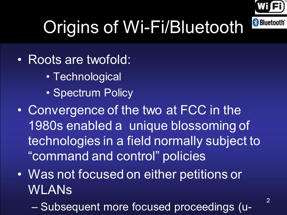 Origins of Wi-Fi/Bluetooth