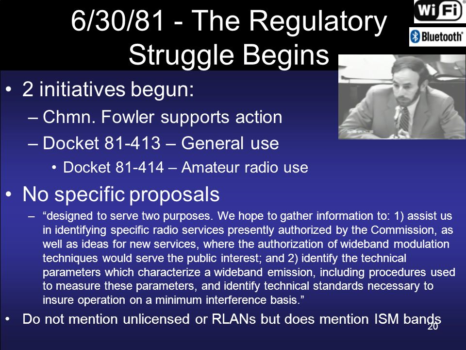 6/30/81 - The Regulatory Struggle Begins