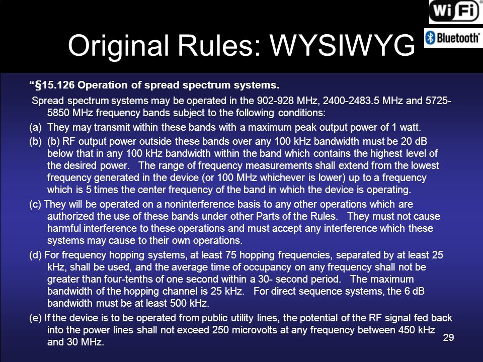 Original Rules: WYSIWYG