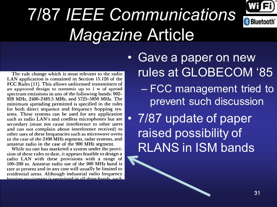7/87 IEEE Communications Magazine Article