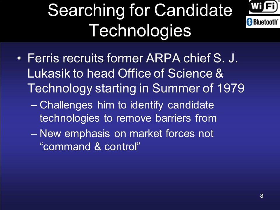 Searching for Candidate Technologies