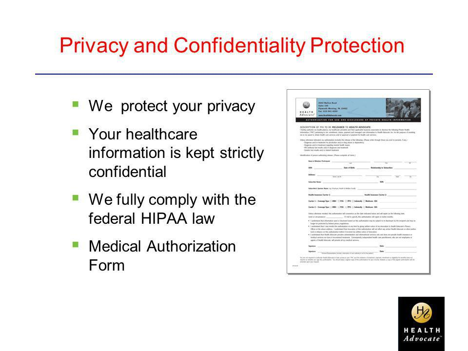 Privacy and Confidentiality Protection