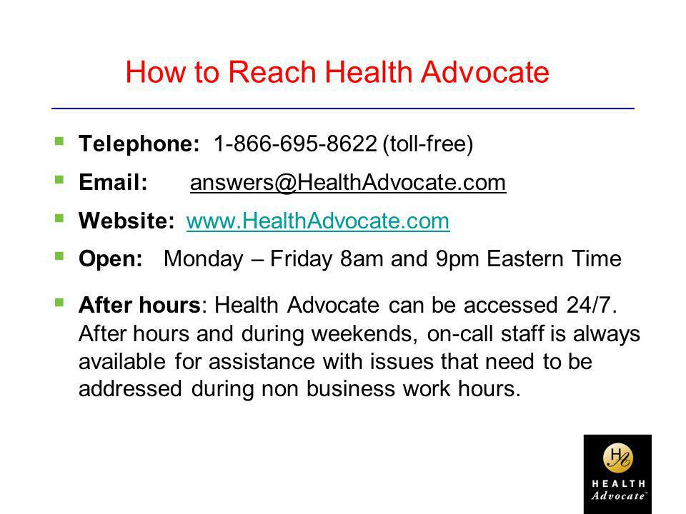 How to Reach Health Advocate