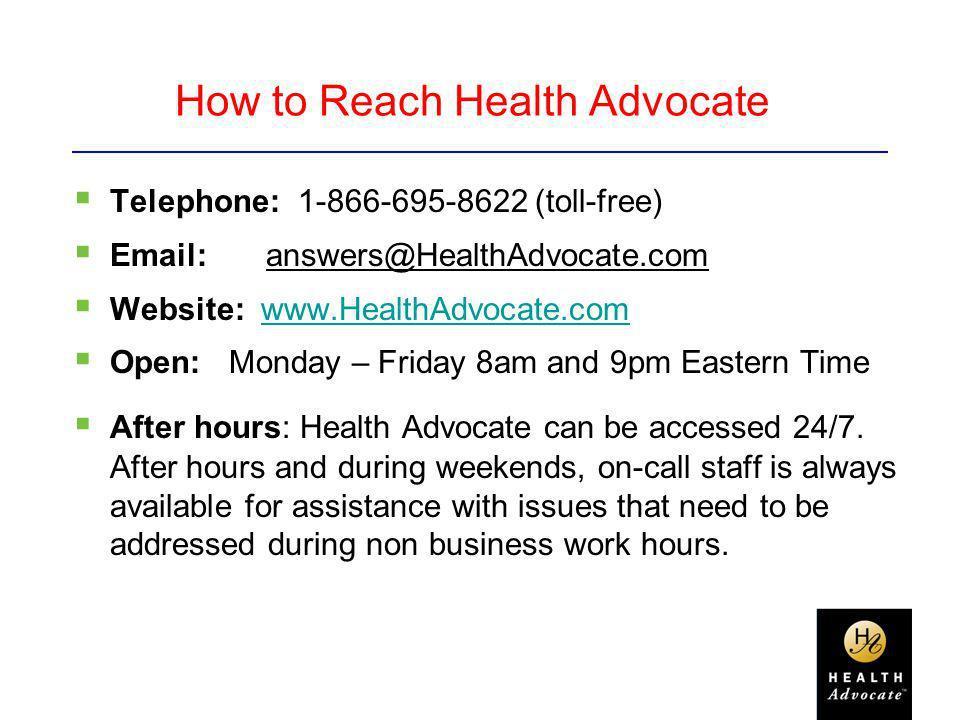 How to Reach Health Advocate