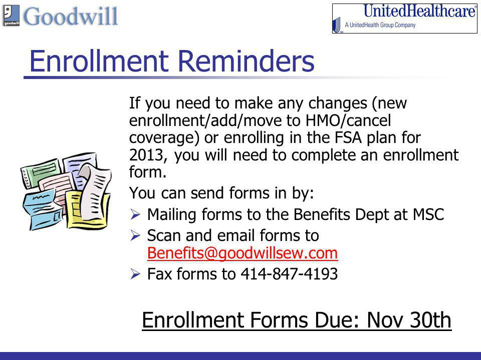 Enrollment Forms Due: Nov 30th