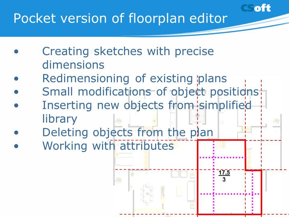 Pocket version of floorplan editor