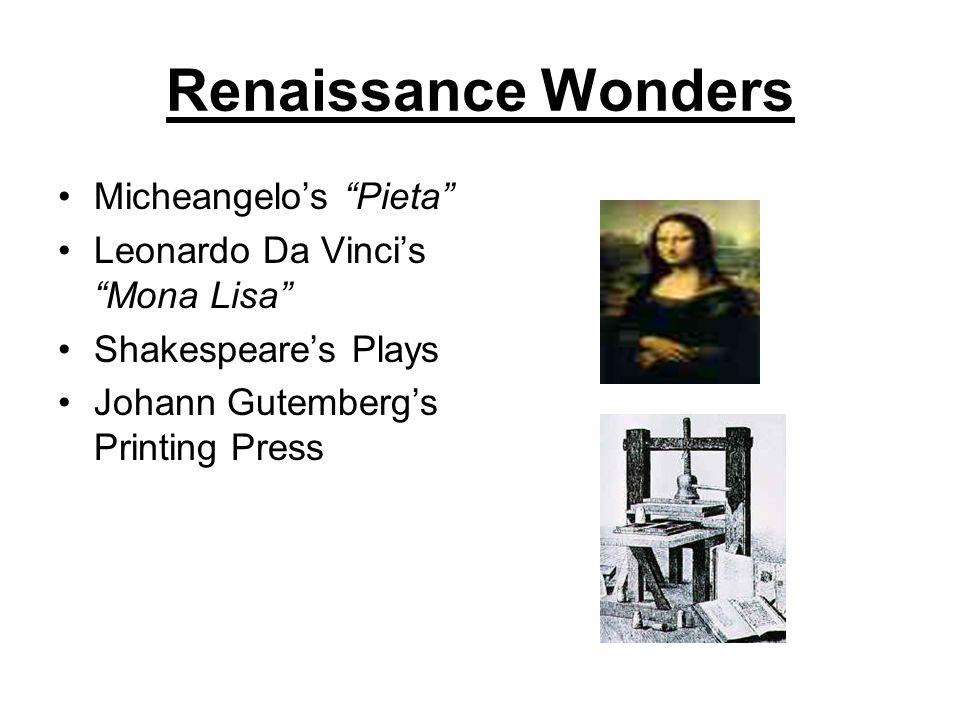 Renaissance Wonders Micheangelo's Pieta