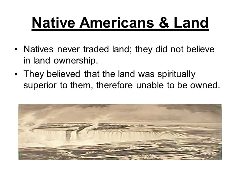 Native Americans & Land