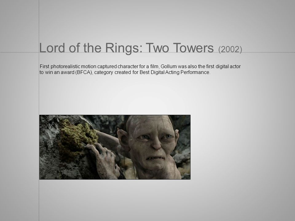 Lord of the Rings: Two Towers (2002)