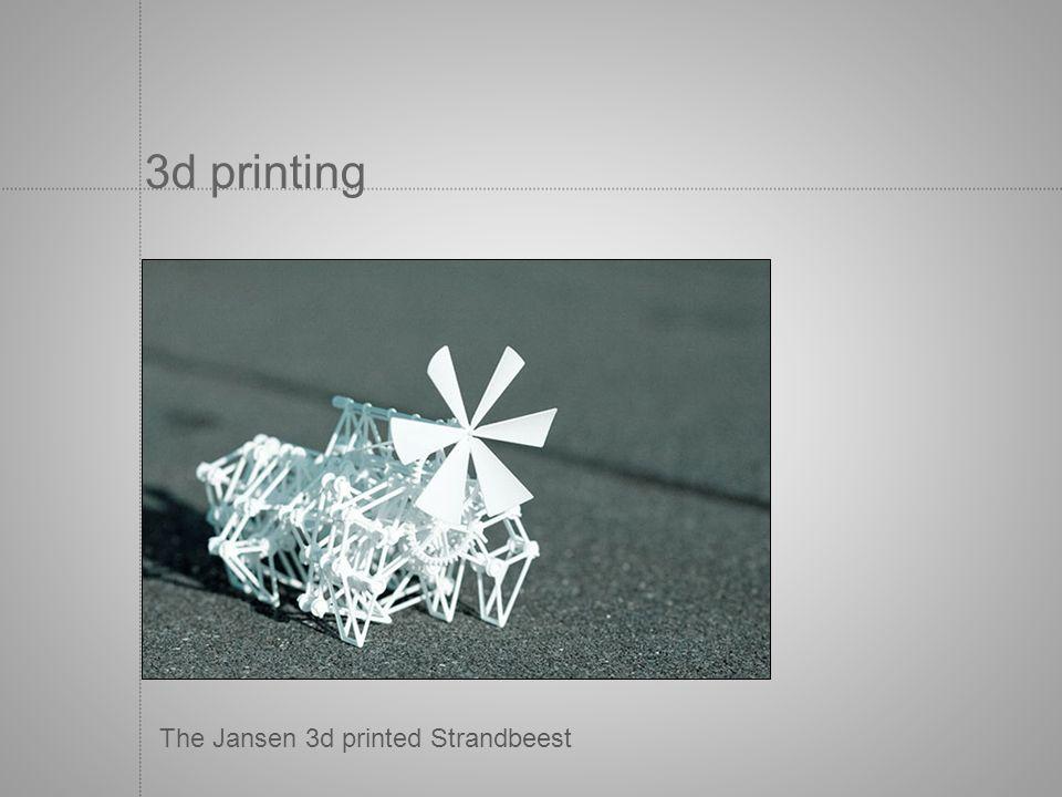3d printing The Jansen 3d printed Strandbeest