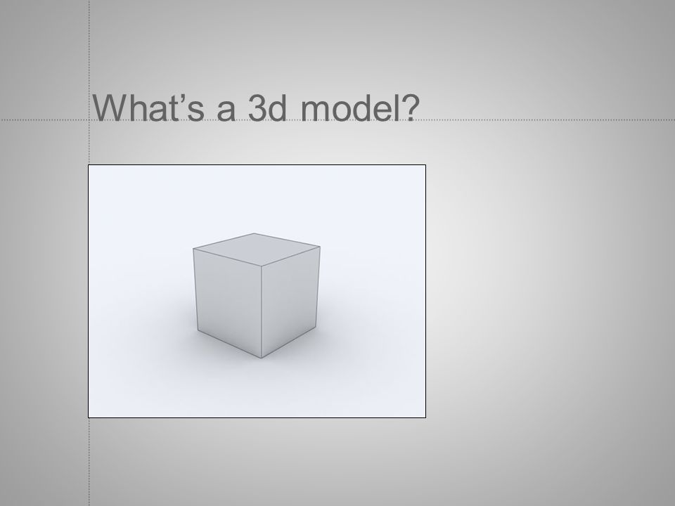 What's a 3d model