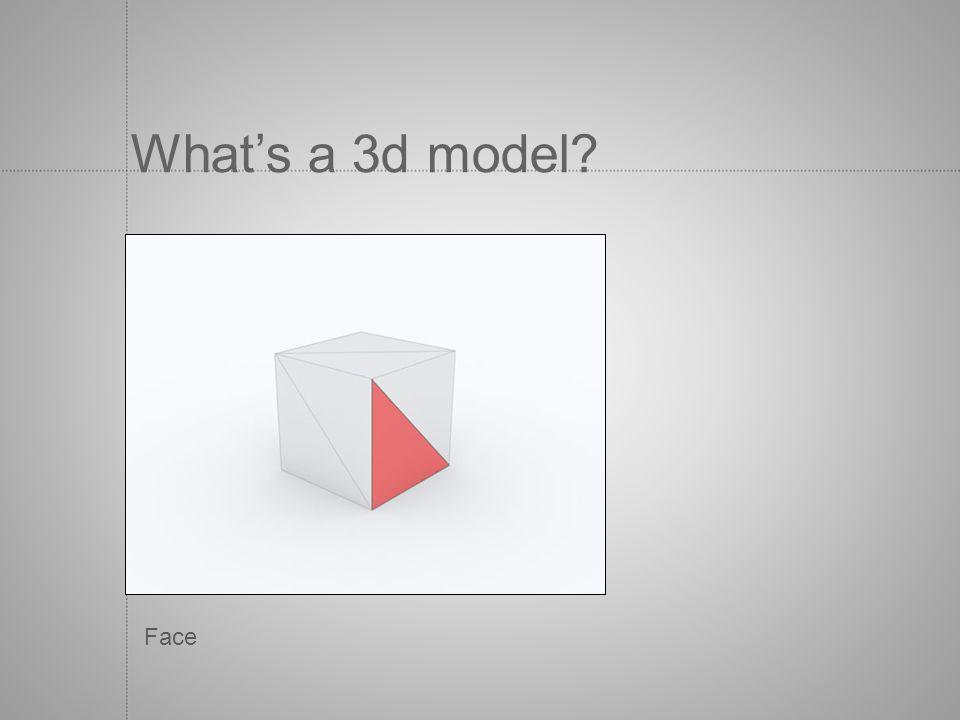 What's a 3d model Face