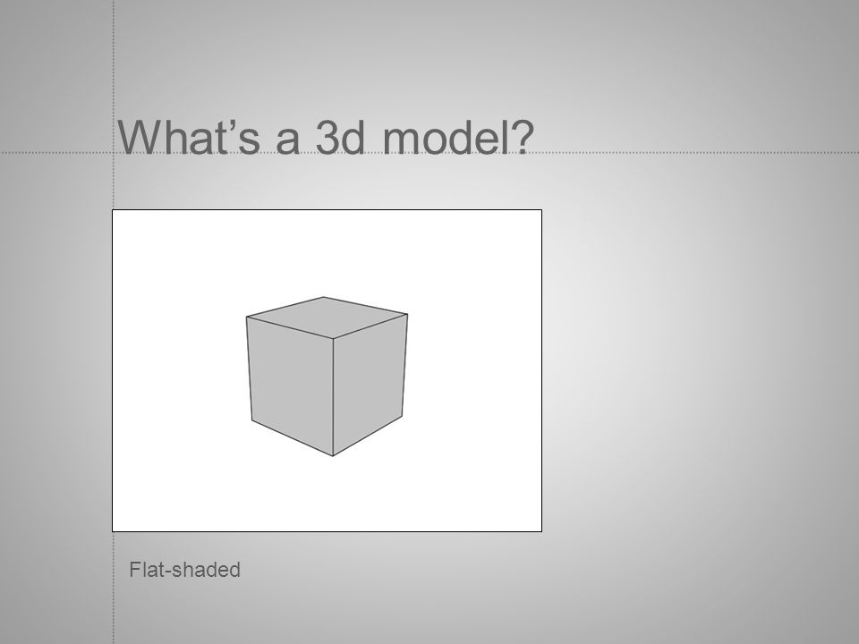 What's a 3d model Flat-shaded