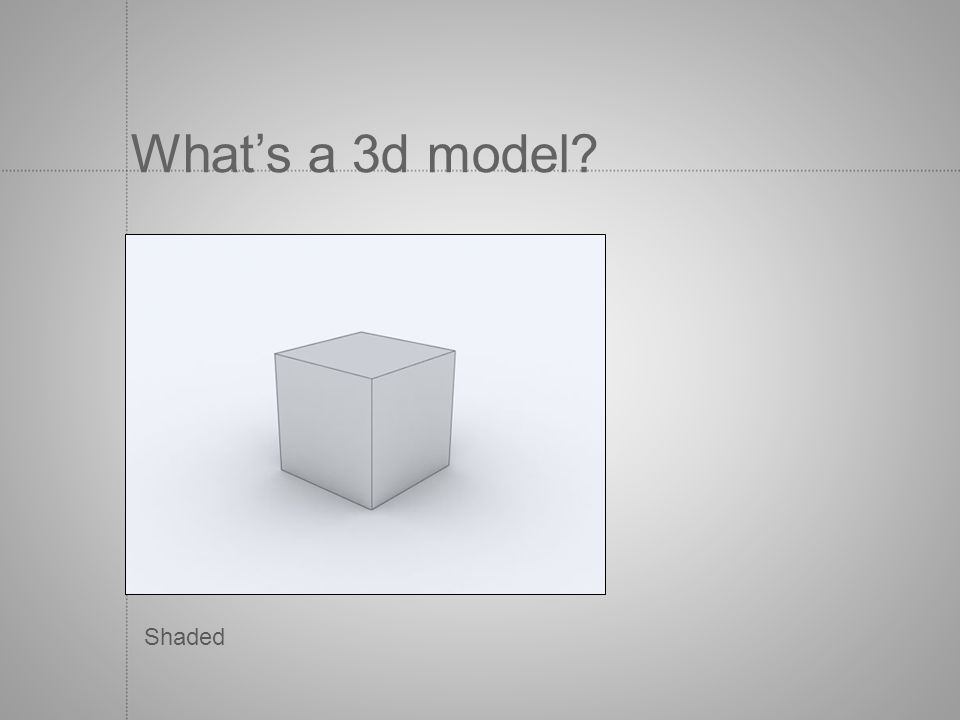 What's a 3d model Shaded