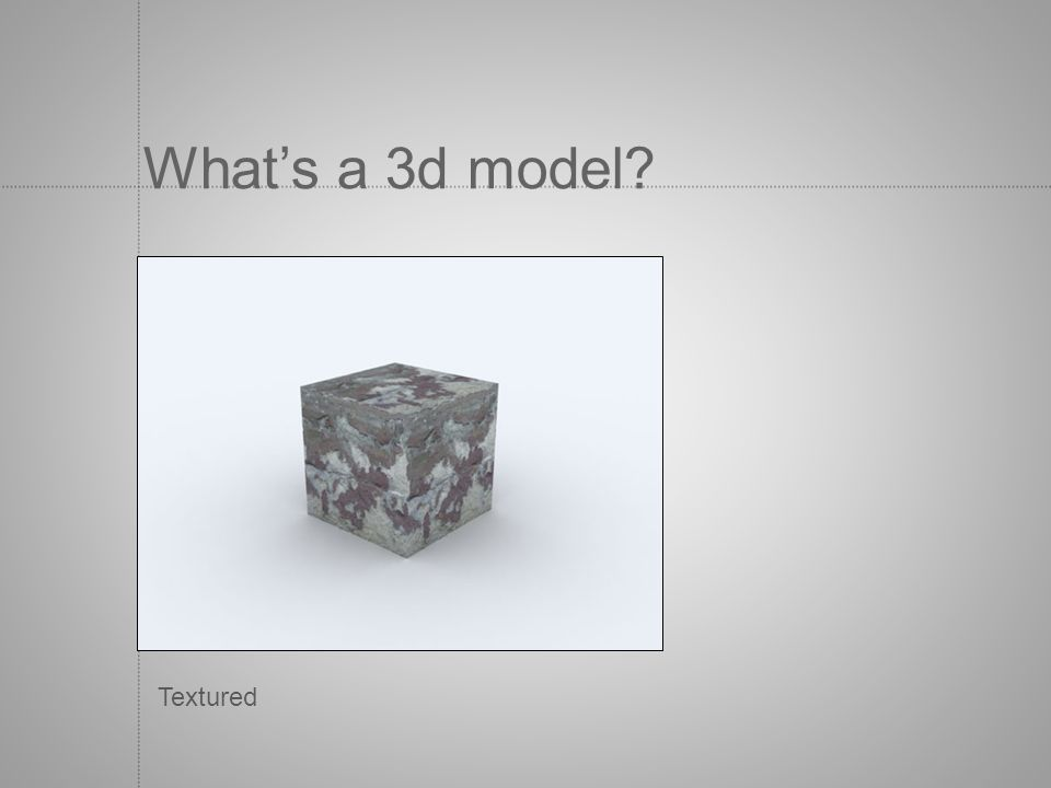 What's a 3d model Textured