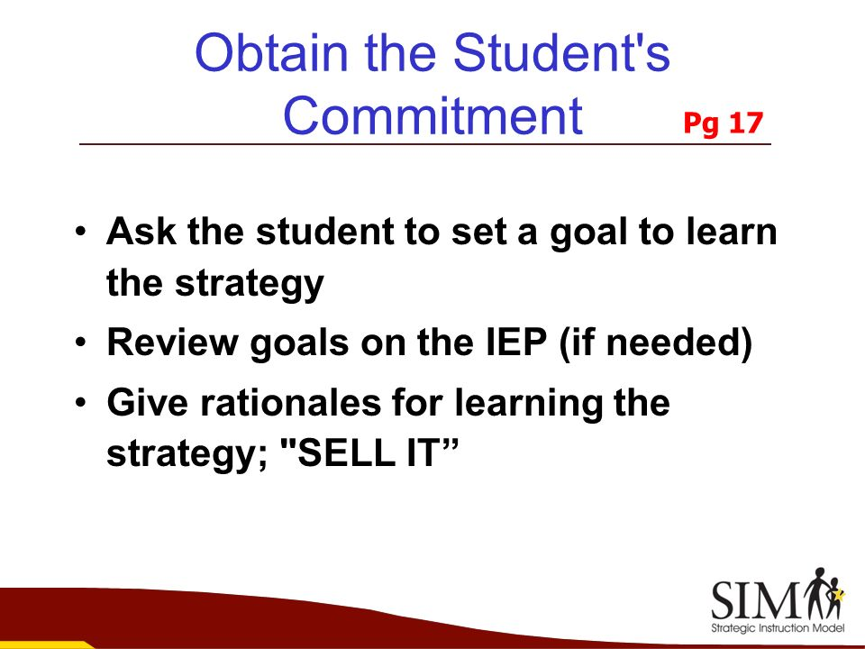 Obtain the Student s Commitment