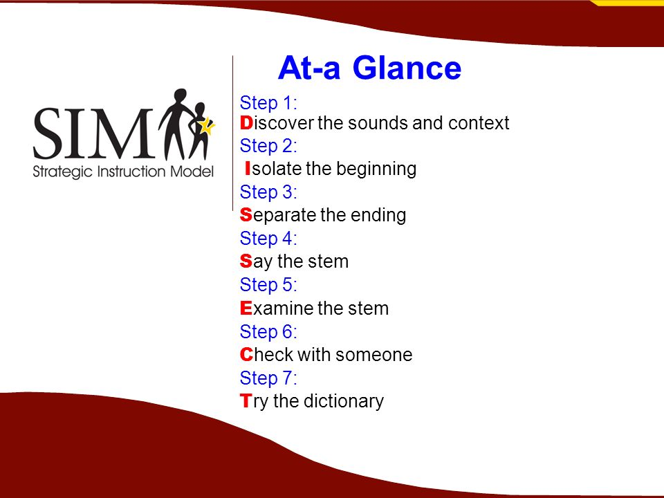 At-a Glance Step 1: Discover the sounds and context Step 2: