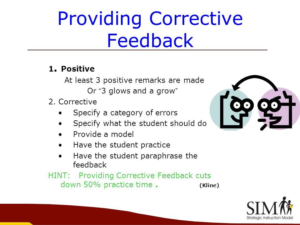 Providing Corrective Feedback