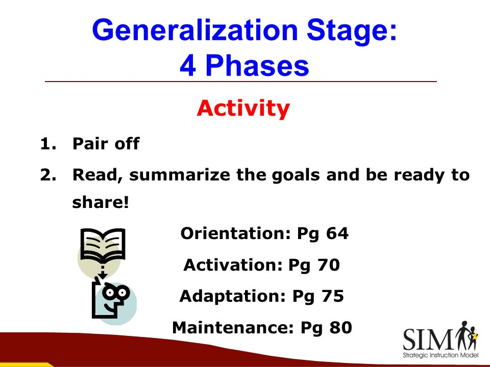Generalization Stage: 4 Phases
