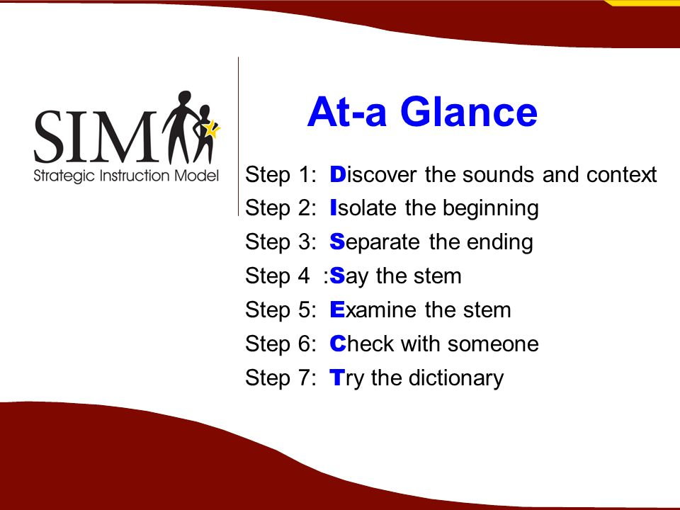 At-a Glance Step 1: Discover the sounds and context