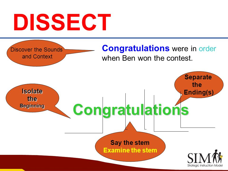 DISSECT Congratulations