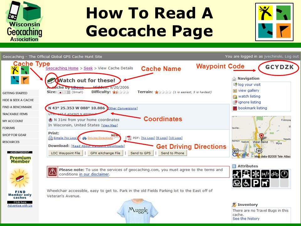 How To Read A Geocache Page