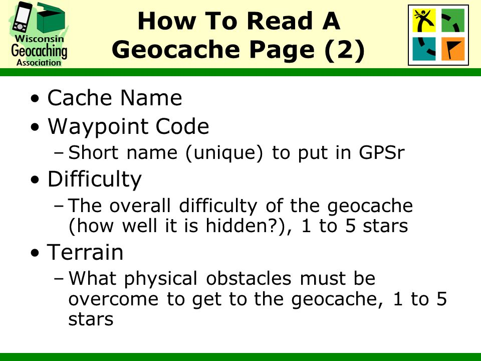 How To Read A Geocache Page (2)