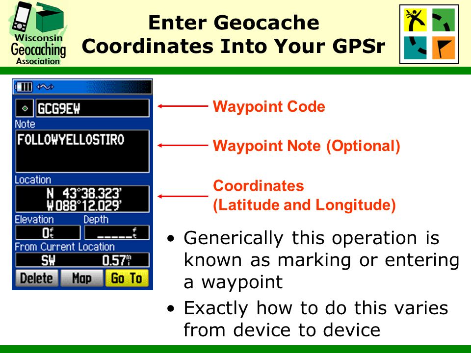 Enter Geocache Coordinates Into Your GPSr