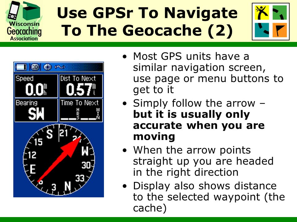 Use GPSr To Navigate To The Geocache (2)