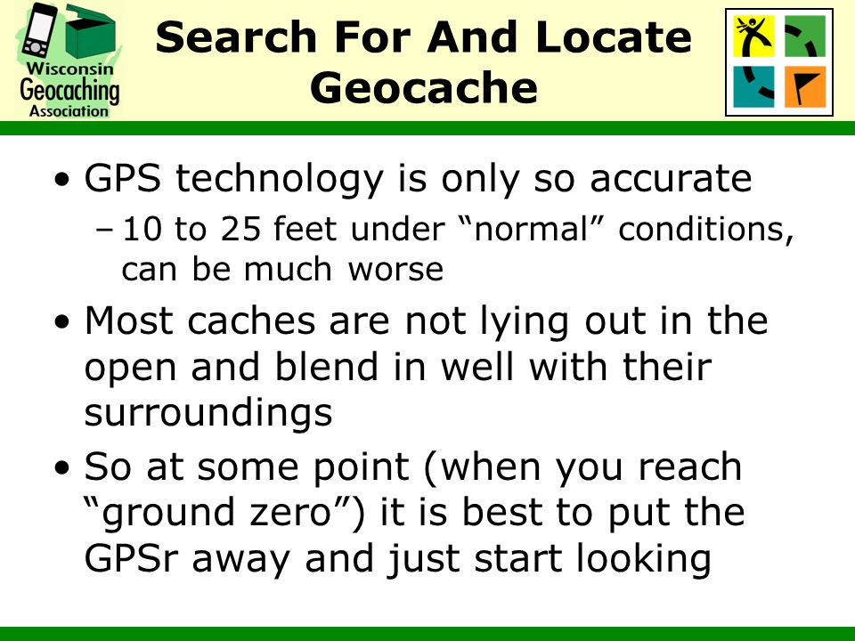 Search For And Locate Geocache