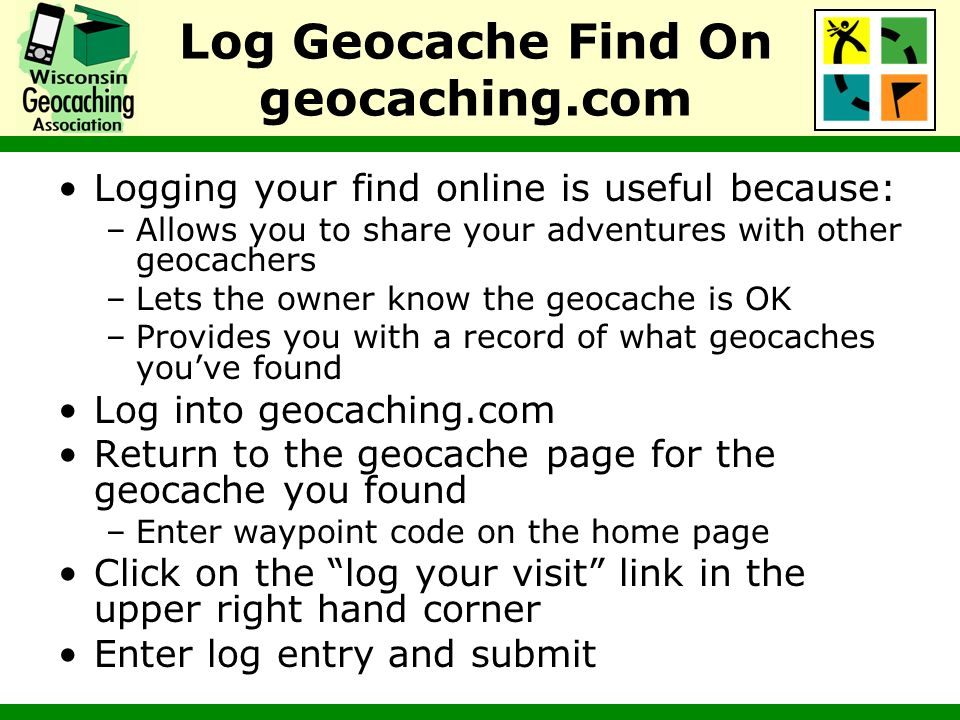Log Geocache Find On geocaching.com