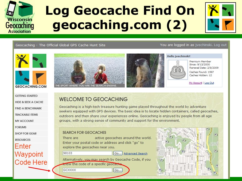 Log Geocache Find On geocaching.com (2)