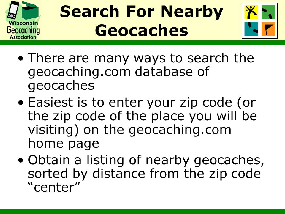 Search For Nearby Geocaches