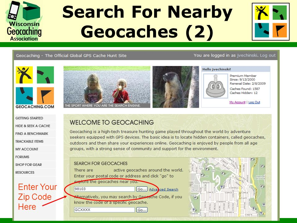 Search For Nearby Geocaches (2)