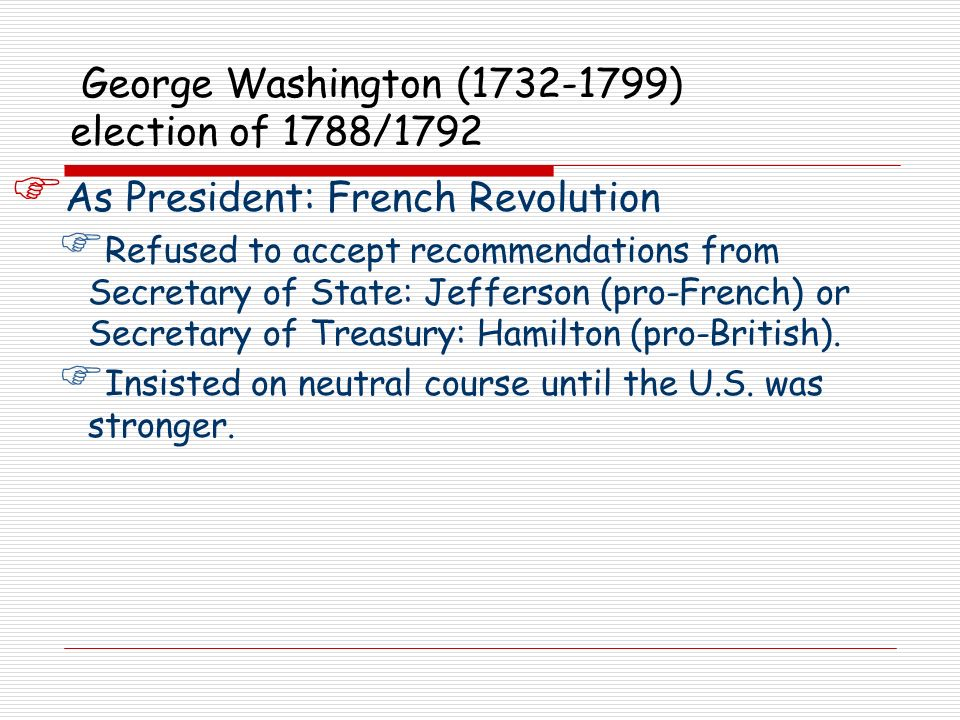 George Washington (1732-1799) election of 1788/1792