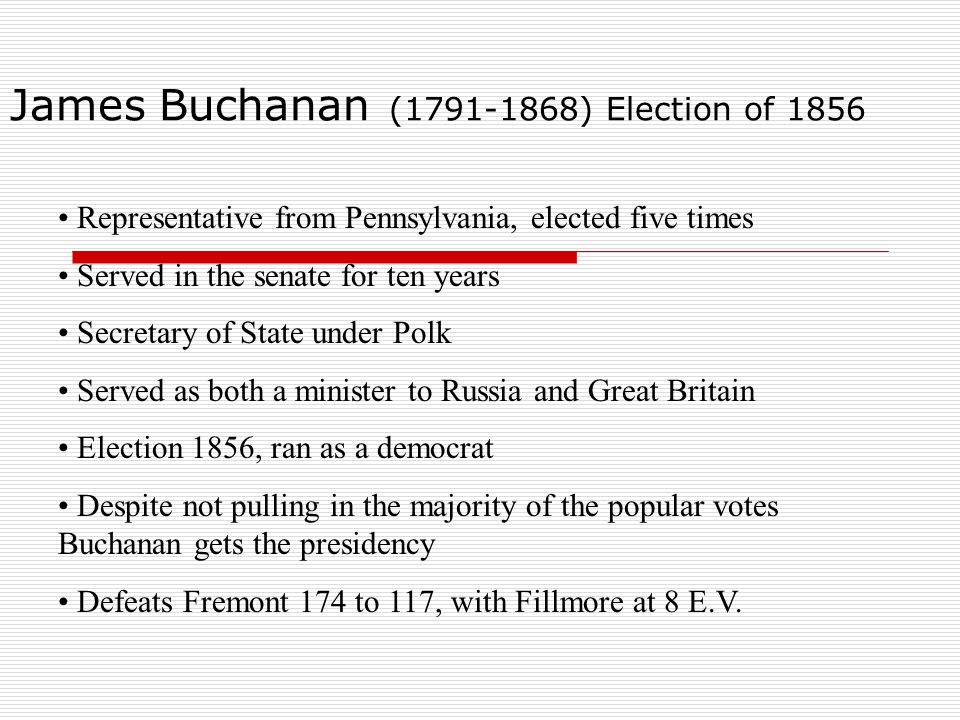 James Buchanan (1791-1868) Election of 1856