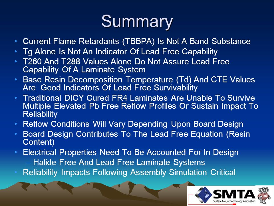 Summary Current Flame Retardants (TBBPA) Is Not A Band Substance