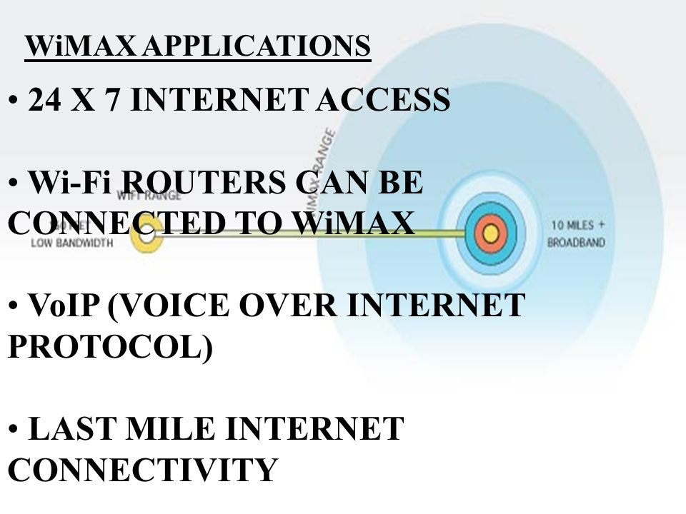 Wi-Fi ROUTERS CAN BE CONNECTED TO WiMAX