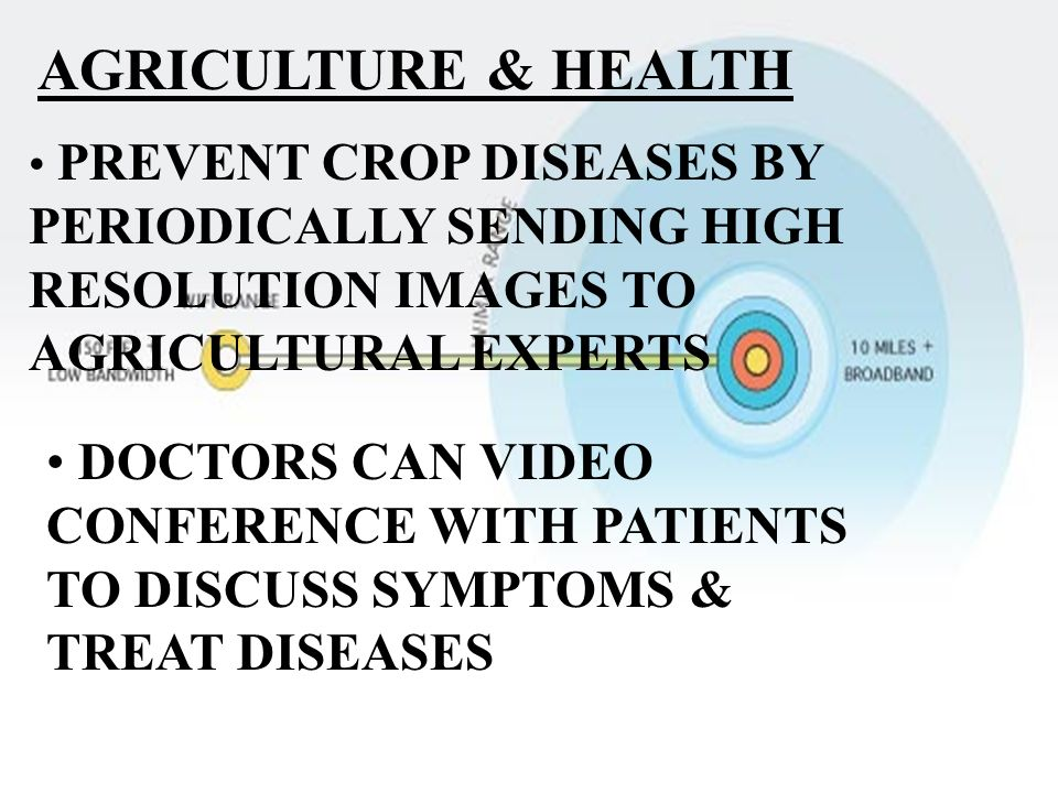 AGRICULTURE & HEALTH PREVENT CROP DISEASES BY PERIODICALLY SENDING HIGH RESOLUTION IMAGES TO AGRICULTURAL EXPERTS.