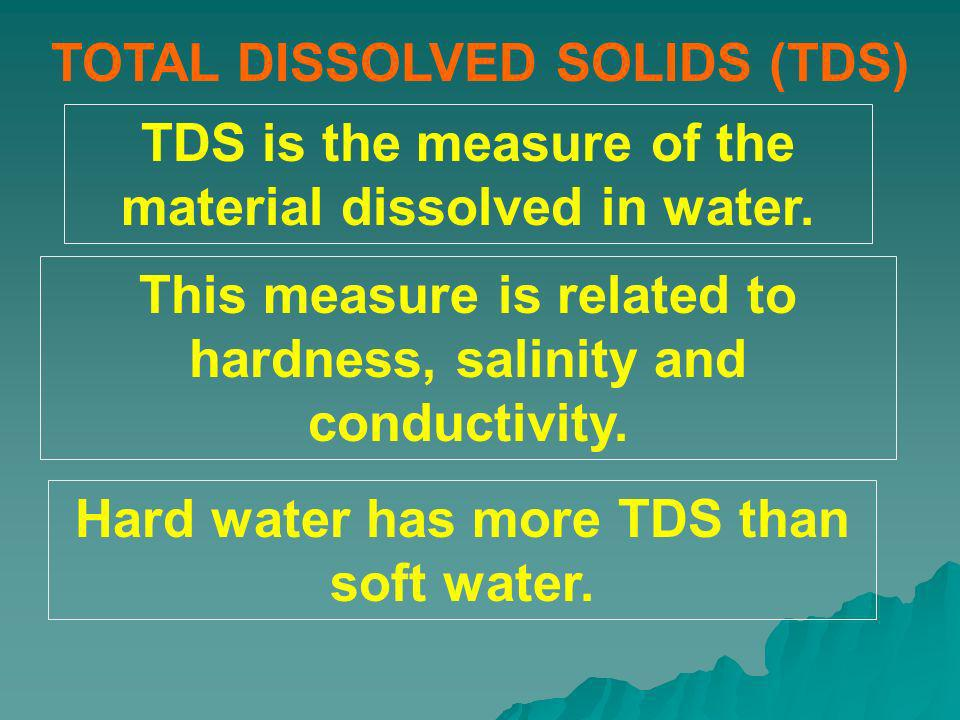 TOTAL DISSOLVED SOLIDS (TDS)