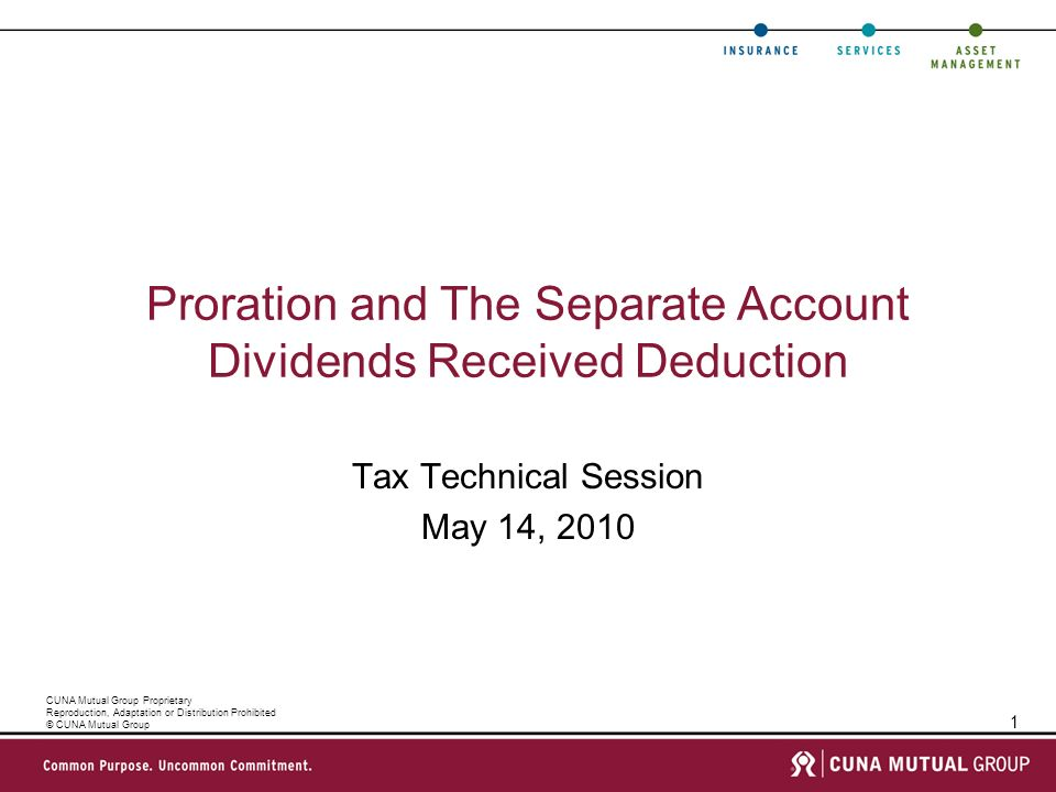 Proration and The Separate Account Dividends Received Deduction