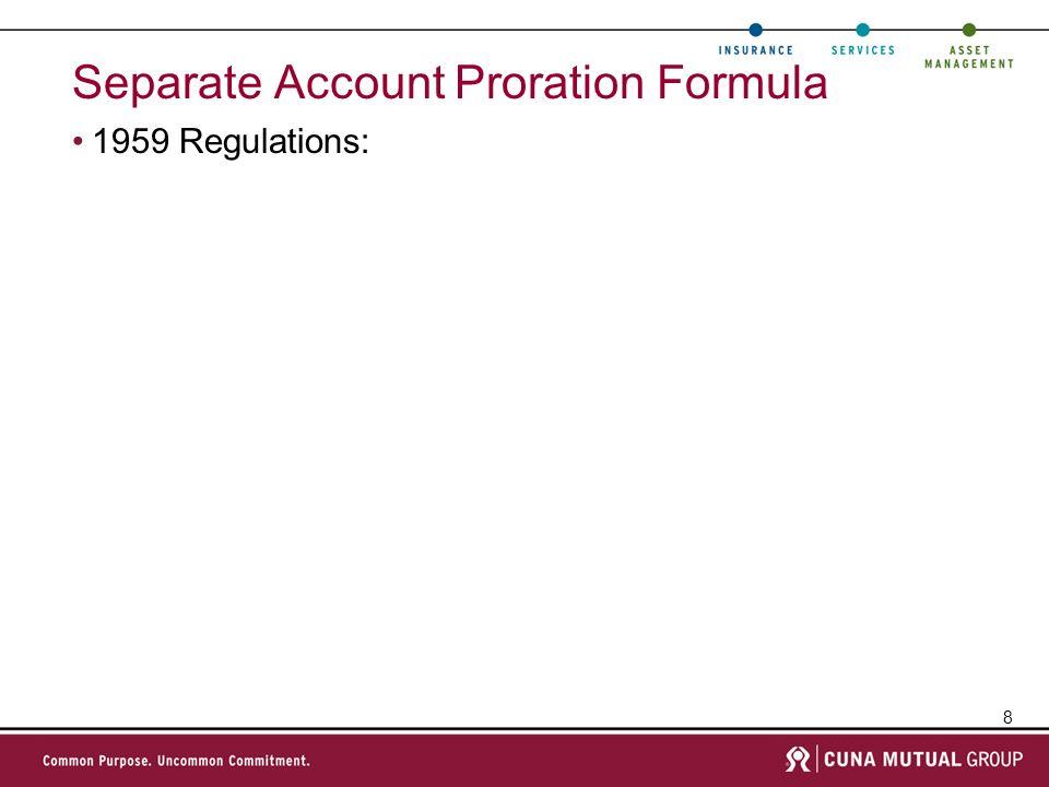 Separate Account Proration Formula
