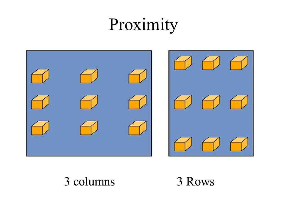 Proximity 3 columns 3 Rows