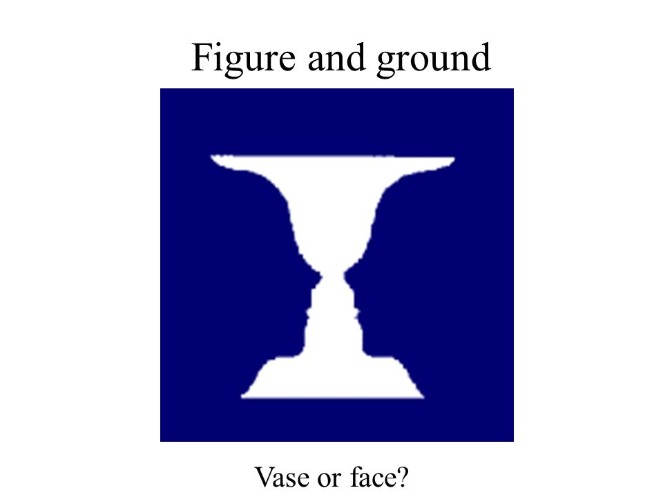 Figure and ground Vase or face