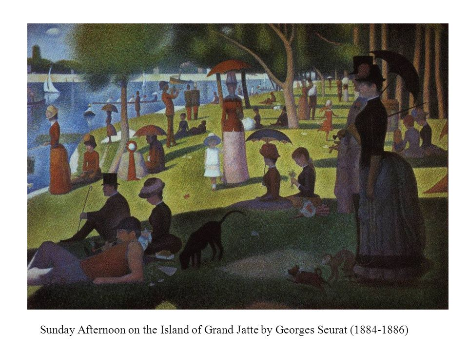 Sunday Afternoon on the Island of Grand Jatte by Georges Seurat (1884-1886)