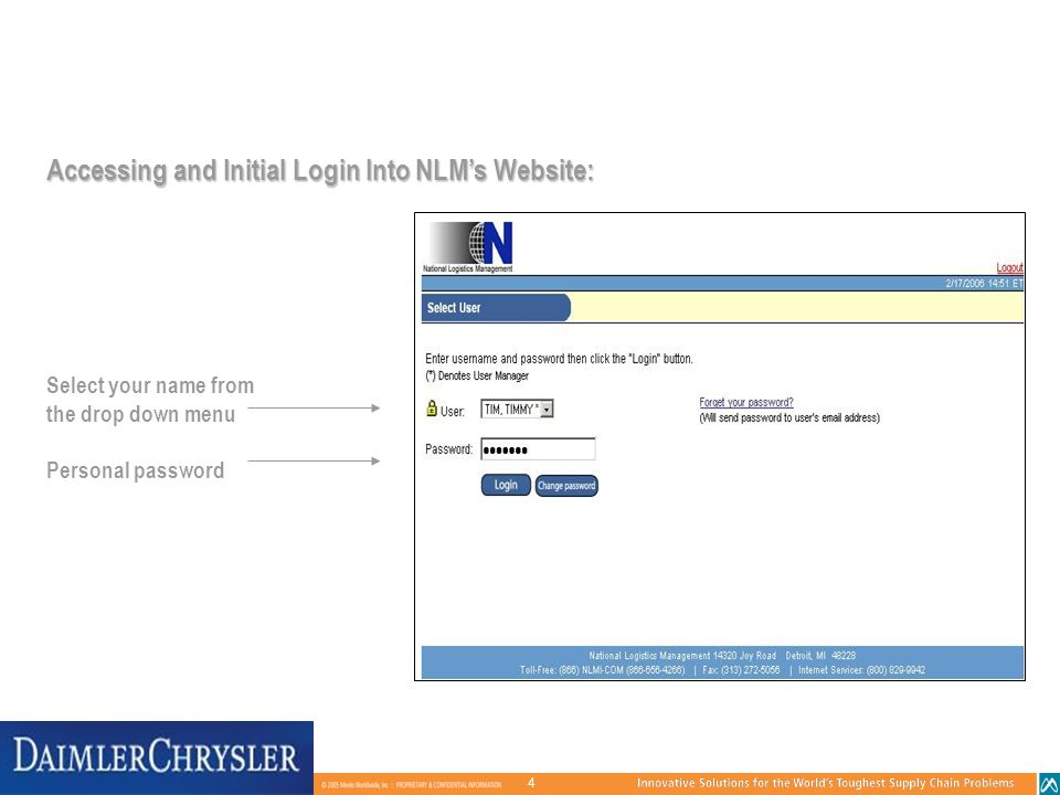 Accessing and Initial Login Into NLM's Website: