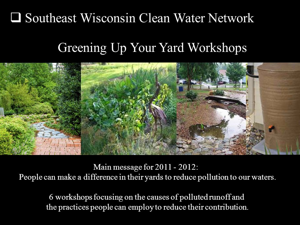 Greening Up Your Yard Workshops